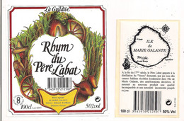 Etiquette  RHUM Du Père Labat - Rhum Agricole Marie Galante - Héritiers Ed. Rameau - 50° -  GUADELOUPE - - Rhum