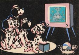 DISNEY, 101 DALMATIENS 1963, Carte Velours , With Moving Television - Non Classificati
