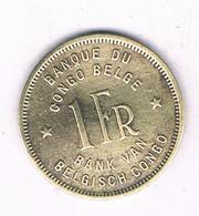 1 FRANC 1944 BELGISCH CONGO /7461/ - 1934-1945: Leopold III