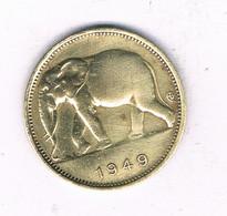 1 FRANC 1949 BELGISCH CONGO /7462/ - 1945-1951: Regency