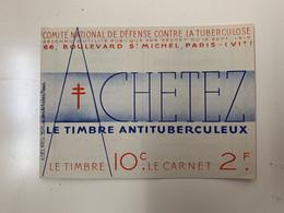 ANTITUBERCULEUX CONSTANTINE ALGERIE 1935 Petit Manque Couverture ( 2 Scans) Timbres Parfaits. Gomme Parfaite** 5 Scans - Tegen Tuberculose