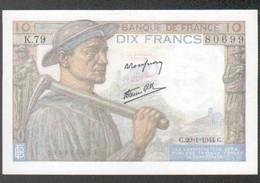 Billet 10 Francs Mineur, 20=1=1944, Neuf - 1871-1952 Antichi Franchi Circolanti Nel XX Secolo