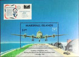 Marshall Islands 1986 Ameripex Aircraft Minisheet MNH - Marshall Islands