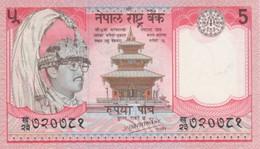 (B0150) NEPAL, 1987- (ND). 5 Rupees. P-30a. UNC - Nepal