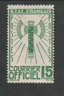 Service  - 1943    -  N° 14     - Francisque -    Neuf  Sans Charnière  - - Ungebraucht