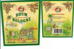 Etiquette RHUM BOLOGNE  Agricole, 1L 55% Vol -  Basse Terre - GUADELOUPE - - Rhum
