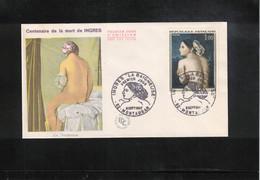 France / Frankreich 1967 Ingres Painting FDC - Desnudos