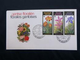"""BELG.1990 2357 2358 2359 FDC (Sint Denijs) :"""" Floralién VIII """" - FDC"""