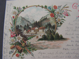 Solden , Hotel Karte 1897 - Trento