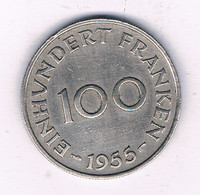 100 FRANKEN 1955 SAARLAND FRANKRIJK /7469/ - [ 8] Saarland