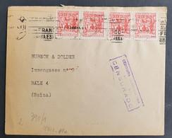 Spanien 1943, Brief MeF Deutsche Zensur SEVILLA Gelaufen Bale/Schweiz - 1931-50 Lettres