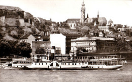"BUDAPEST : BATEAU / SHIP "" SZABADSÁG "" Sur / On DANUBE - CARTE VRAIE PHOTO / REAL PHOTO POSTCARD ~ 1960 - '965 (af456) - Hungría"