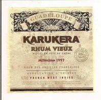 Etiquette  RHUM  KARUKERA Vieux  1997 - GUADELOUPE - Marquisat Ste Marie - 46,3° 70 Cl - - Rhum