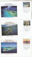 Polynésie FDC 2011 - Yvert  957 à 959 Tourisme Images Des Iles - FDC