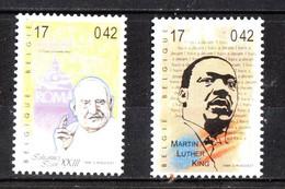 Belgio  - 1999. M. Luthe King E Papa Giovanni  XXIII Grandi Predicatori Della Pace Del '900.  Peace Preachers.. MNH - Martin Luther King
