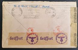 Spanien 1944, Brief EF Deutsche Zensur MADRID Gelaufen Embach Schweiz - 1931-50 Lettres