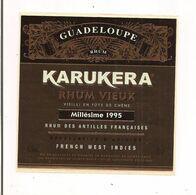 Etiquette  RHUM  KARUKERA Vieux  1995 - GUADELOUPE - Marquisat Ste Marie - 46,3° 70 Cl - - Rhum