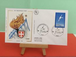 Jeux Paralympiques - (Paris) - Albertville 1992 -  6.12.1991 -FDC 1er Jour - Coté 2,50€ Y&T - - Winter 1992: Albertville