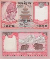 (B0152) NEPAL, 2002 (ND). 5 Rupees. P-46. UNC - Nepal