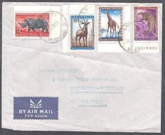 Ca5231 CONGO BELGE 1959, Animal Stamps On Kolwezi Cover To Belgium - 1947-60: Used