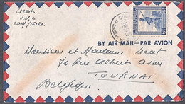Cb0145  BELGIAN CONGO 1948, Soldier Stamp On Coquilhatville Cover To Belgium - 1947-60: Covers