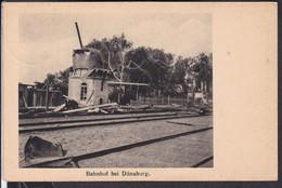 Lettland Bahnhof Bei Dünaburg  Feldpost  1917 - Latvia