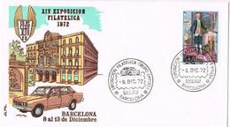 37763. Carta BARCELONA 1972, Exposicion Filatelica Grupo SEAT, Auto, Coches - 1931-Aujourd'hui: II. République - ....Juan Carlos I