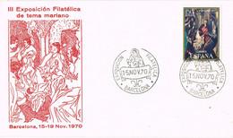 37765. Carta BARCELONA 1970, Tema Mariano. Nacimiento Cuadro GRECO - 1931-Aujourd'hui: II. République - ....Juan Carlos I