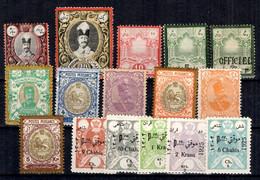 Iran Belle Petite Collection Neufs * 1881/1925. Bonnes Valeurs. B/TB. A Saisir! - Iran