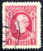 Slovenska - P3/8 - (°)used - 1939 - Michel Nr. 40 - Andrej Hlinka - Slovakia