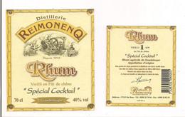Etiquette  RHUM  Vieilli 1 An En Fût De Chêne  Spécial Cocktail -  Distillerie  Reimonenq - GUADELOUPE - - Rhum