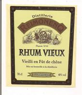 Etiquette  RHUM Vieux  Vieilli  En Fût De Chêne  -  Distillerie  Reimonenq - GUADELOUPE - - Rhum
