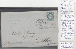 LAC DE NICE LE 8/OCT/75 LOZANGE GROS CHIFFRE 2656 POUR PAU AVEC CACHET C19 A DATE DES AMBULANTS DE JOUR LETTRE BATONS - Poststempel (Briefe)