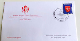 SMOM 2014 ANNULLO SPECIALE CENTENARIO ELEZIONE GRAN PRIORE DI ROMA GAETANO BISLETI - Malte (Ordre De)