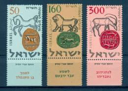 Israel - 1957, Michel/Philex No. : 145/146/147, - MNH - *** - Full Tab - Israel