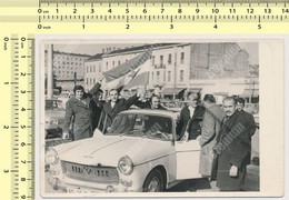 OLD CAR VINTAGE PEUGEOT 404 VOITURE AUTO AUTOMOBILE - Serbia Vintage Old Photo Photograph - Auto's