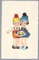 NL.- TWee Meisjes Met Een Bloementaart. 1933. JWE . F . 9923 - Scenes & Landscapes