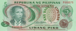 (B0190) PHILIPPINES, 1978 (ND). 5 Piso. P-160c. UNC - Filippine