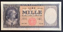 1000 LIRE Italia Medusa 10 02 1948  Naturale Bb/spl  LOTTO 1977 - [ 2] 1946-… : Républic