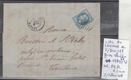 LAC DE LAVAUR  LE 5/JUIN/68 LOZANGE GROS CHIFFRE 1989 Indice III  Nr 29A  COTE 20  € - Poststempel (Briefe)