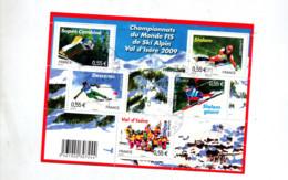 Bloc Championnat Monde Ski 2009 Cachet - Sheetlets