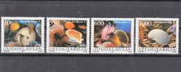 Yugoslavia 1988 Shells Mi#2275-2278 Mint Never Hinged - Unused Stamps