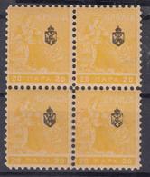 "Serbia Kingdom 1911 ""Troicki Sabor"" Mi#111 Mint Never Hinged Piece Of Four - Serbia"