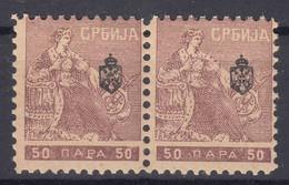 "Serbia Kingdom 1911 ""Troicki Sabor"" Mi#114 Mint Never Hinged Pair - Serbia"