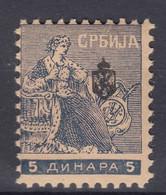 "Serbia Kingdom 1911 ""Troicki Sabor"" Mi#117 Mint Never Hinged - Serbia"