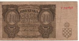 CROATIA   10  Kuna   P5a    Date 30.08.1941 - Kroatien