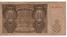 CROATIA   10  Kuna   P5b    Date 30.08.1941 - Kroatien