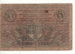 CROATIA   /   YUGOSLAVIA    1/2    Dinara    P11  Date 01.02.1919 - Kroatien