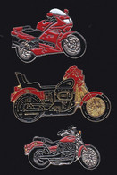 66928-Lot De 3 Pin's .Moto. - Motorbikes