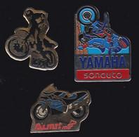 66929-Lot De 3 Pin's .Moto. - Motorbikes